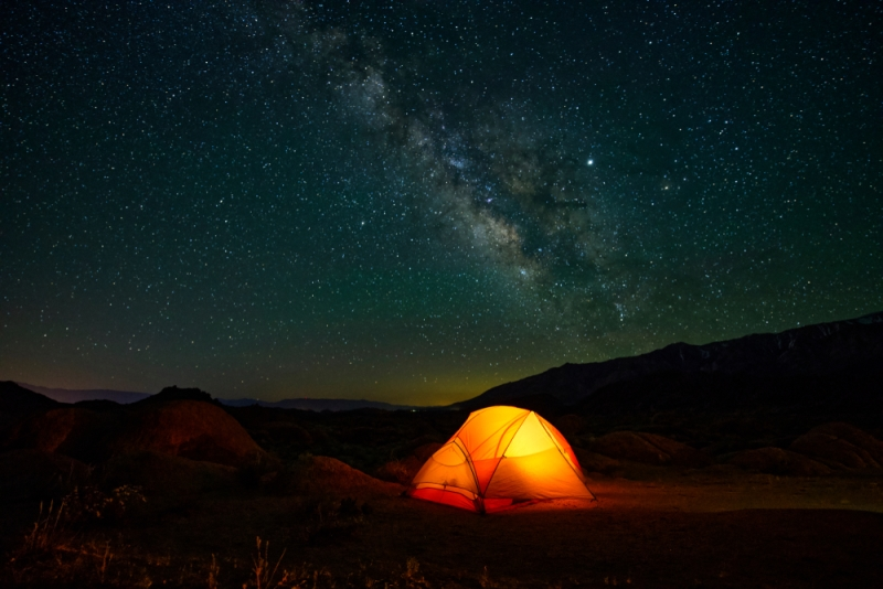 Acampamento Noturno do Grand Canyon