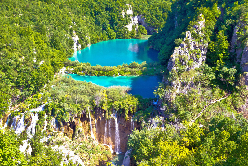 Gite di un giorno al Parco nazionale dei laghi di Plitvice da Spalato