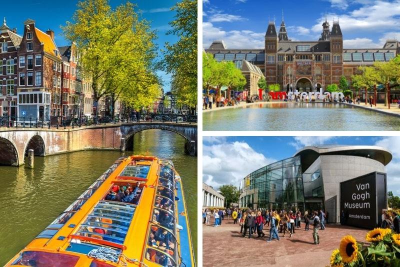 Museo Van Gogh y visita guiada sin colas al Rijksmuseum, almuerzo y crucero