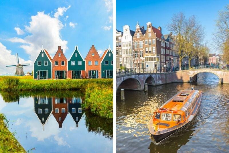 Volendam, Marken y molinos de viento con crucero gratuito por el canal de 1 hora