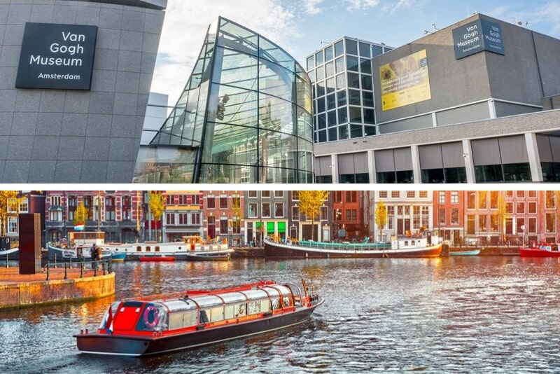 Amsterdam Van Gogh Museum Ticket and City Canal Cruise