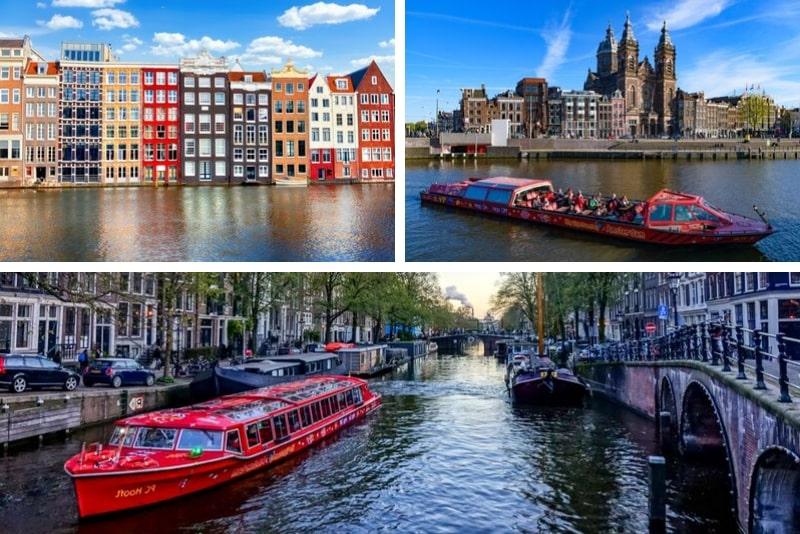 Recorrido en autobús turístico por Ámsterdam con opción de barco
