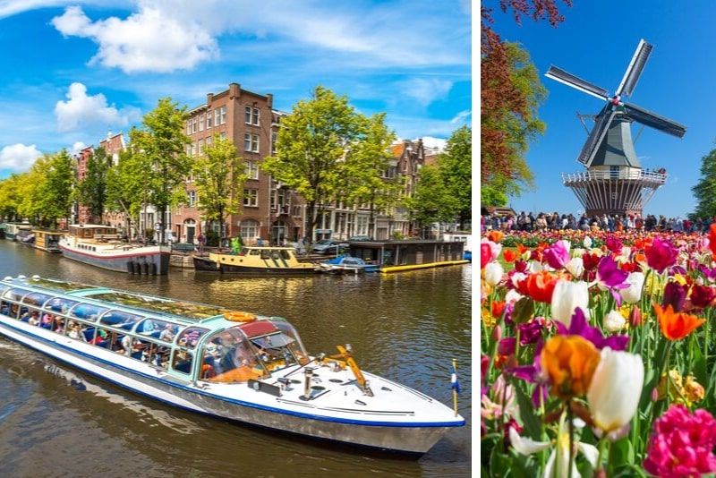 Visita guiada de medio día a los jardines de Keukenhof desde Ámsterdam con un crucero gratuito de 1 hora