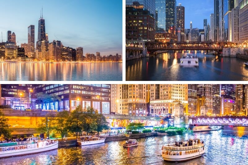 Chicago: 90-Minute River and Lakefront Cruise at Night