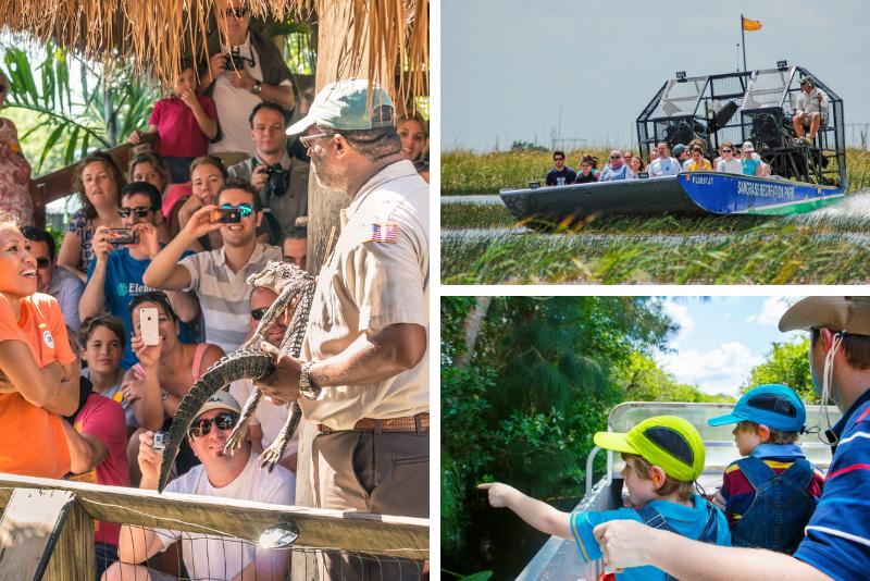 Safari diurno di prenotazione indiana delle Everglades