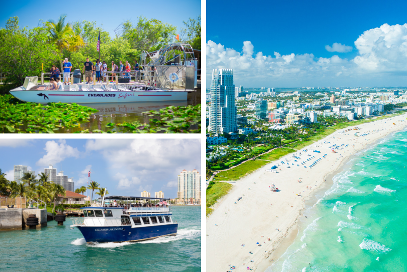 Everglades, Miami City Tour & Bay Cruise: tour di 1 giorno, in 3 parti
