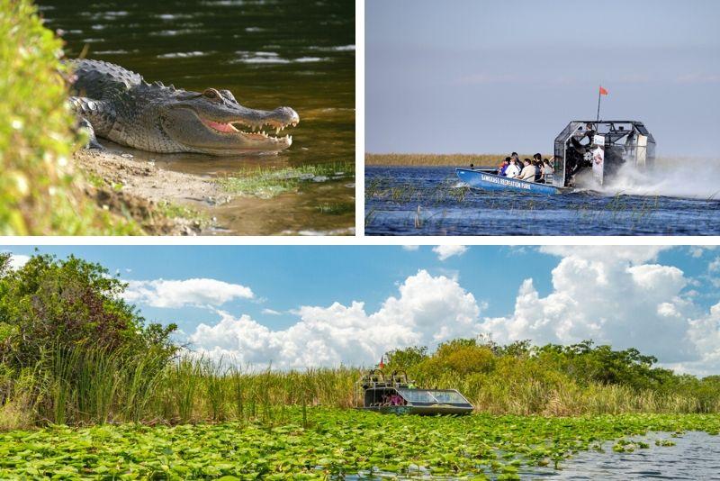 Everglades: Sawgrass Park Airboat Tour with Exhibit Entrance
