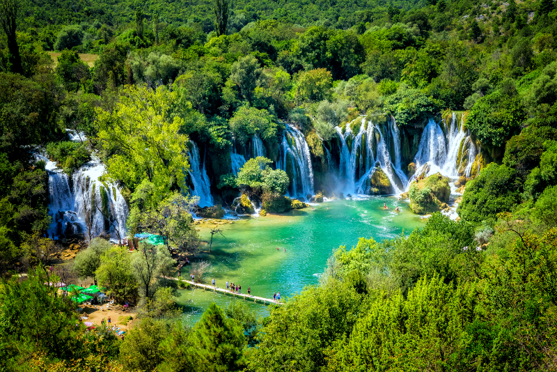 Kravice Wasserfälle