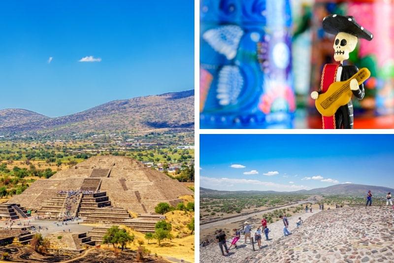 Mexico City Super Saver Teotihuacan, Tlatelolco und Guadalupe Shrine Plus Xochimilco und Frida Kahlo
