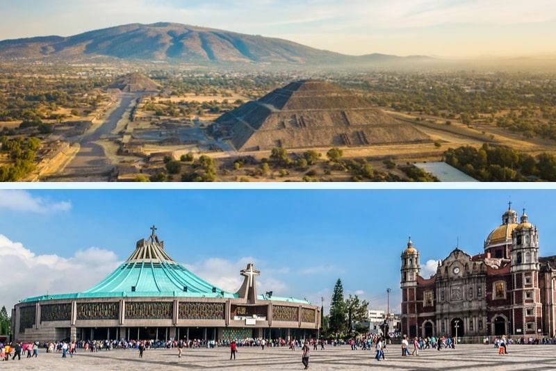 Mexiko Ganztagestour durch Teotihuacán und Basilika Guadalupe
