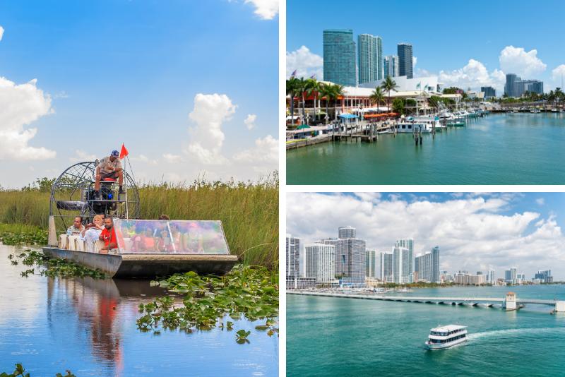 Excursión de un día a Miami con paseo en hidrodeslizador Everglades opcional o crucero Star Island