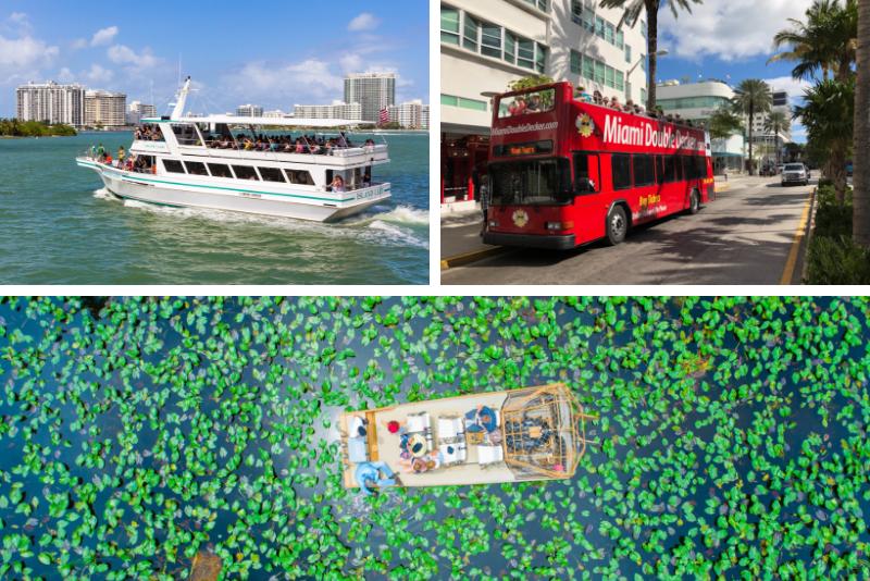 Miami: Everglades Park, Bus Tour, & Yacht Tour