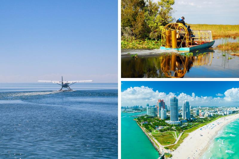 Giro in idrovolante di Miami in Florida con l'avventura di Airboat sulle Everglades