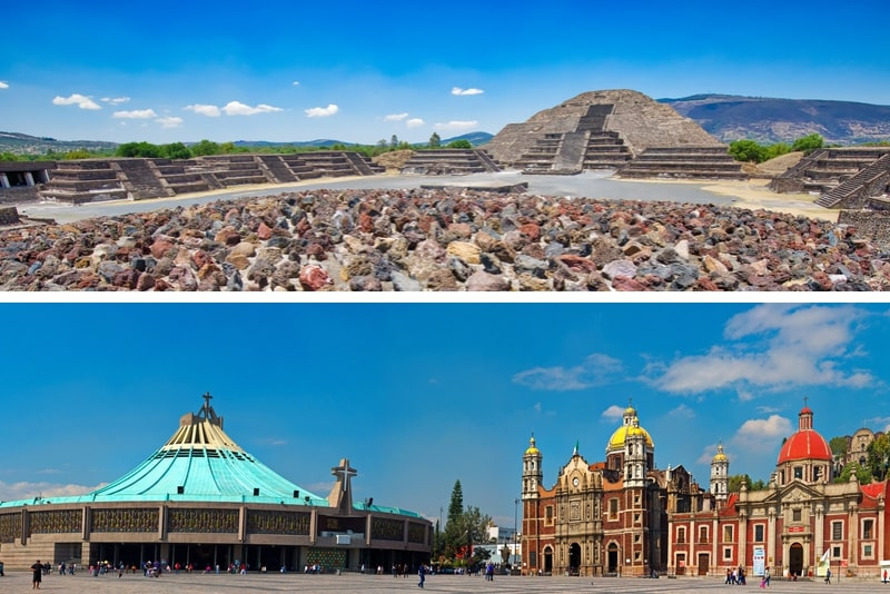 Private Tour Teotihuacan und Guadalupe Schrein