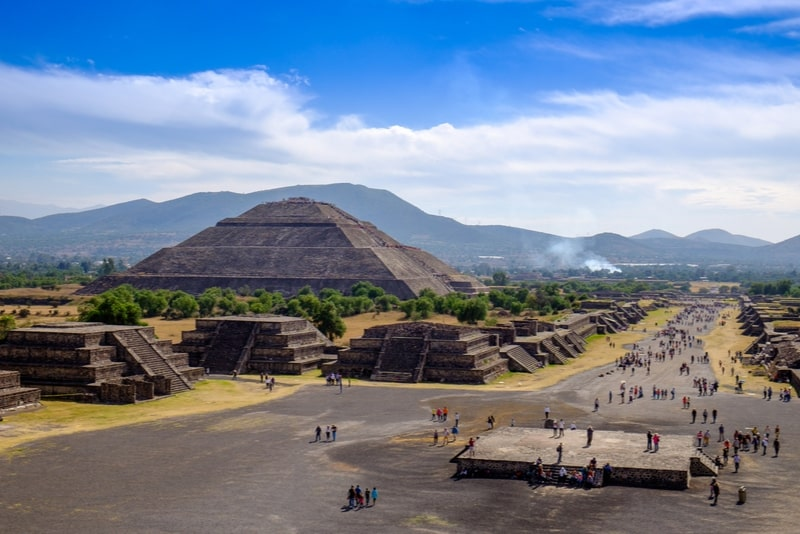 Small-Group Teotihuacan Pyramids from Mexico City