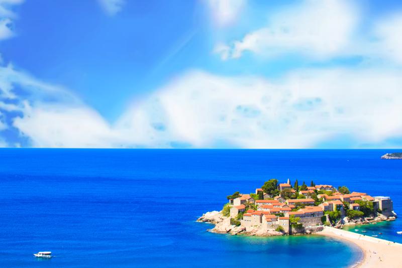 Sveti Stefan day trips from Dubrovnik