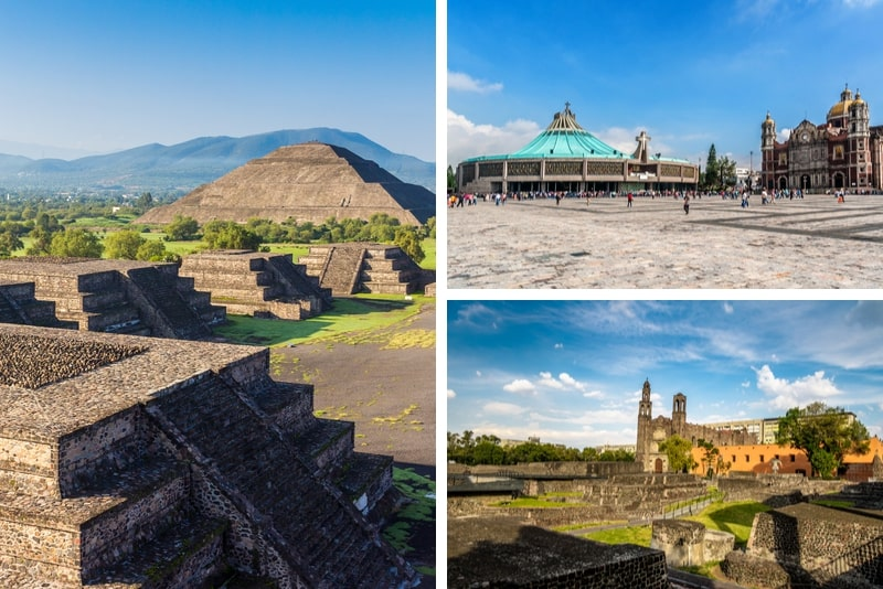 Teotihuacán, Guadalupe Basilica and Tlatelolco Day Trip