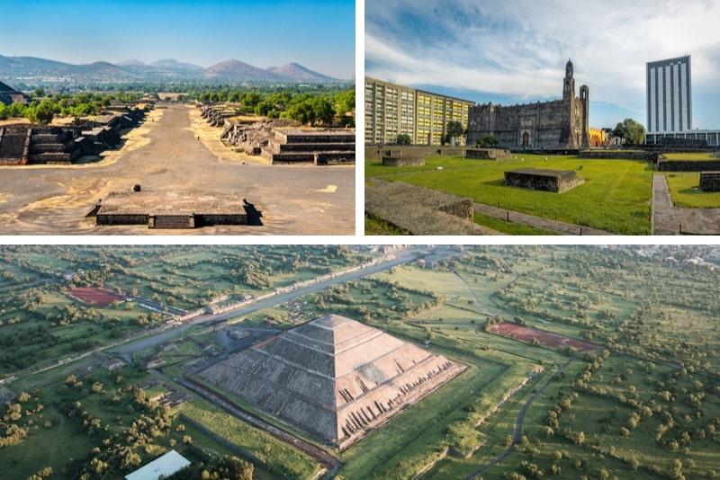 Teotihuacán, Plaza de las Tres Culturas und Acolman Tour