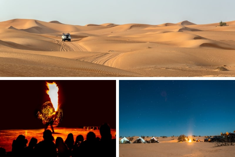 Overnight Desert Camp Experience Dinner, Emirati Activities, and Vintage Land Rover Transport