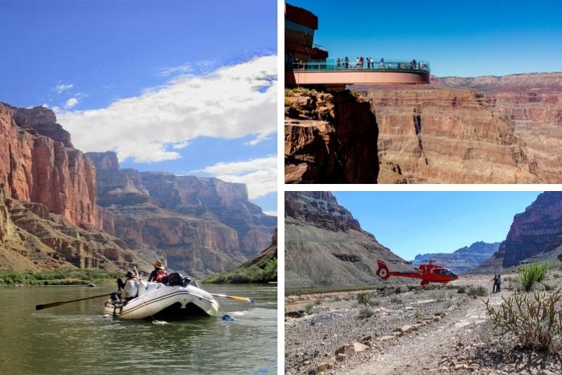 Grand Canyon West Rim Skywalk, Hubschrauber und Bootszubehör