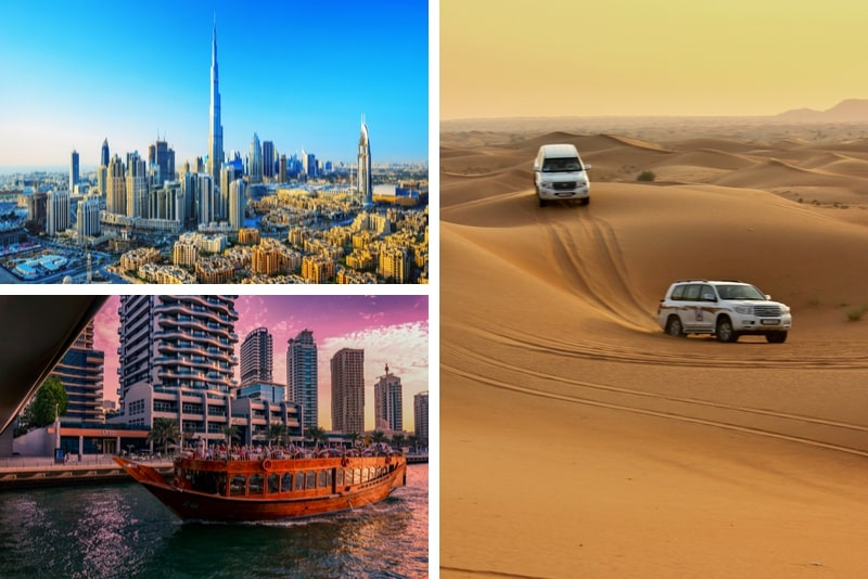 2 Day Combo Desert Safari + Dubai City Tour + Dhow Dinner Cruise