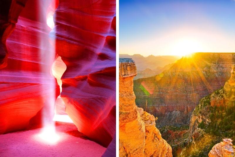 Von Las Vegas Antelope und Grand Canyon Sunrise Tour