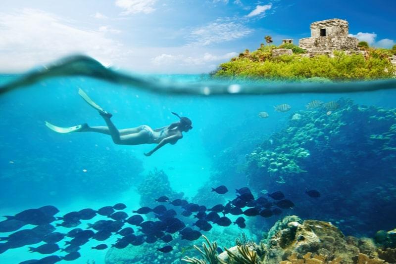 Tour combinado de ruinas de Tulum y natación de tortugas