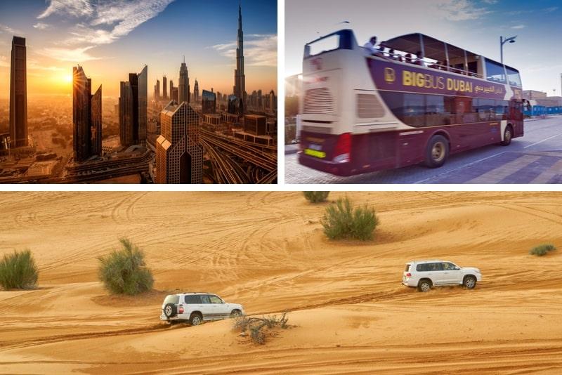 2 Day Combo Big Bus 1 Day Hop-On Hop-Off Tour + Desert Safari