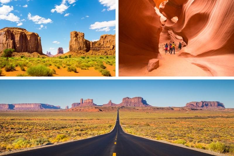 3-tägige Fahrt von Las Vegas zum Grand Canyon, Monument Valley, Antelope Canyon und Zion National Park
