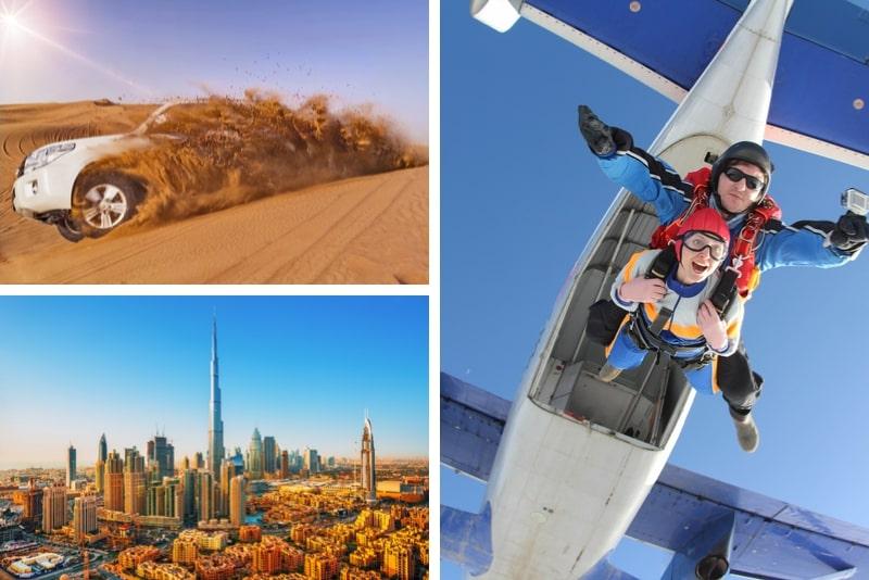 SkyDive Dubai Tandem Skydiving at Desert Drop Zone + Free Burj Khalifa OR Desert Safari