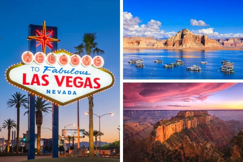 4 Tage Las Vegas, Grand Canyon, Antelope Canyon und Lake Powell