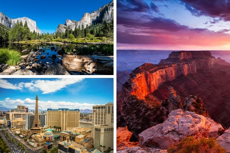 4 Tage Yosemite, Las Vegas und Grand Canyon South Rim