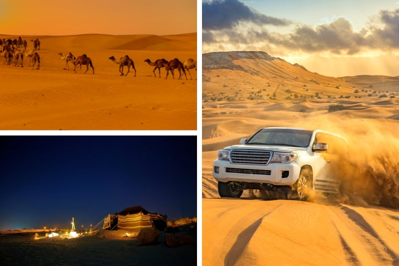 Overnight Camp with Red Dunes and Camel Safari