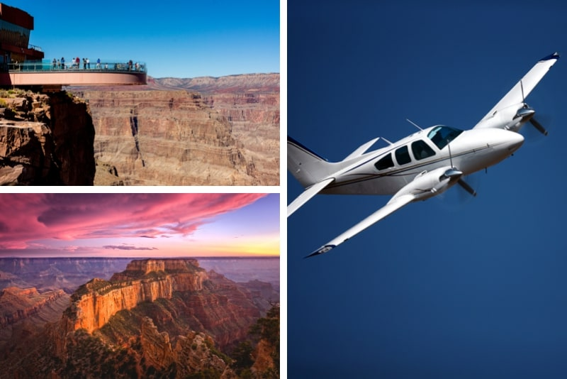 Grand Canyon Flugtour mit optionaler Landung und Skywalk