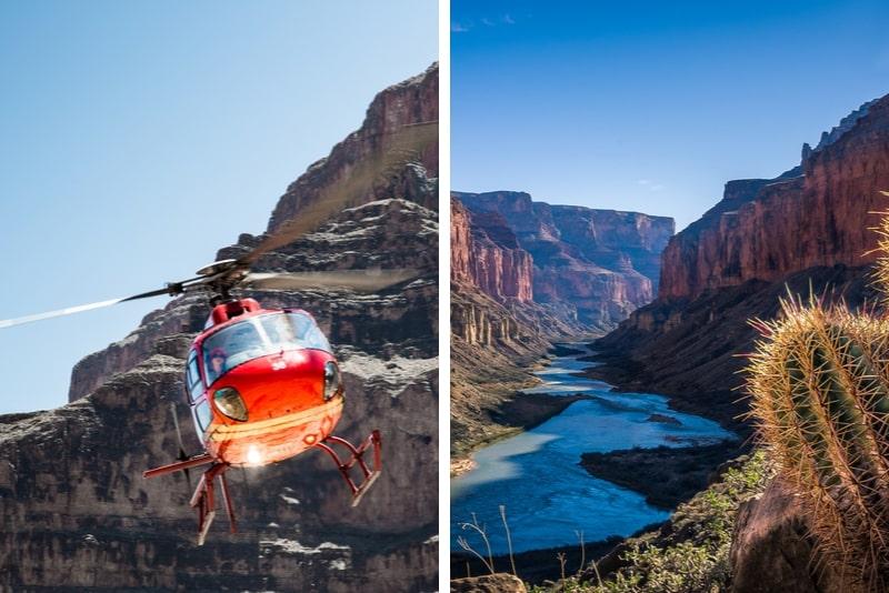 Grand Canyon South Rim Bus- und Hubschraubertour