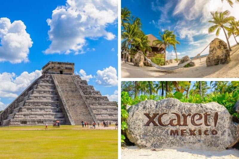 Cancun Combo Tour Xcaret, Xel-Ha, Xplor and Chichen Itza