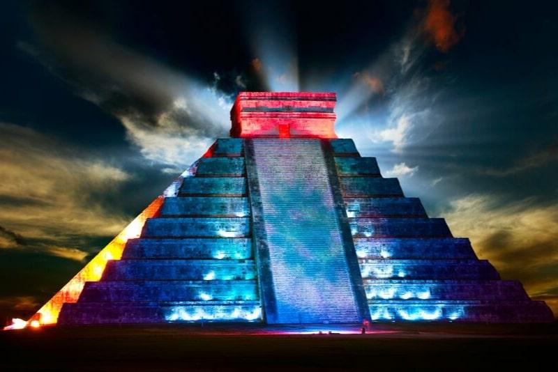 Chichen Itza Light and Sound Show with Cenote Chukum
