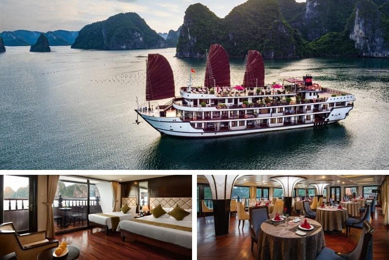 Alisa Premier Cruise # 12 Halong Bay cruceros de lujo