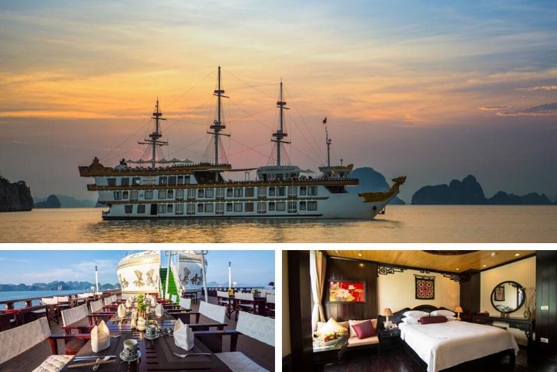Dragon Legend Cruise # 15 cruceros de lujo por la bahía de Halong