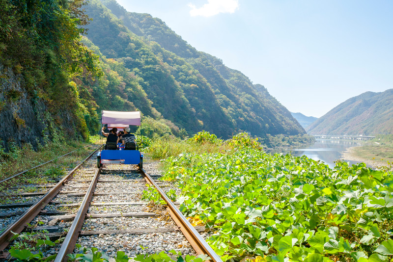 Gangchon Rail Park day trips from Seoul