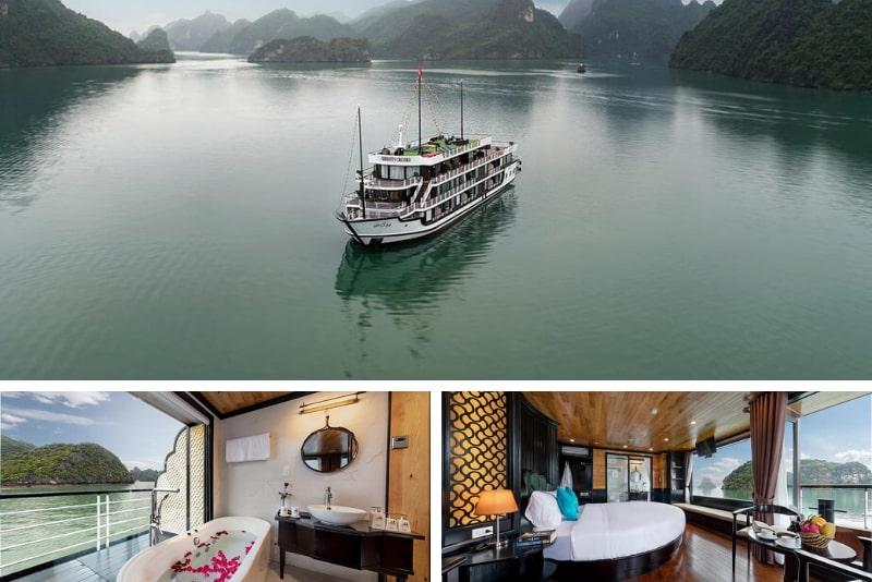 Halong Serenity Cruises # 8 cruceros de lujo por la bahía de Halong