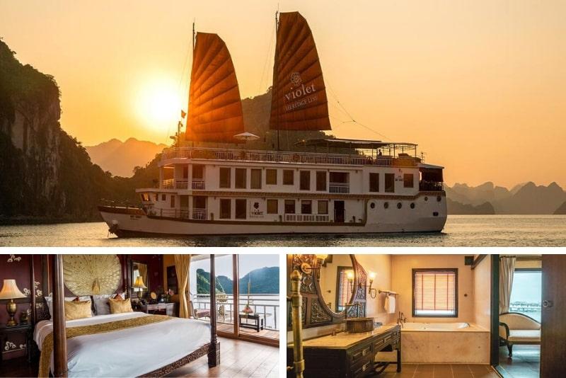 Heritage Line - Violet Cruise #22 Halong Bay luxury cruises