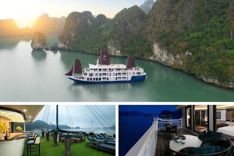 O'Gallery Lotus Cruise # 18 cruceros de lujo por la bahía de Halong