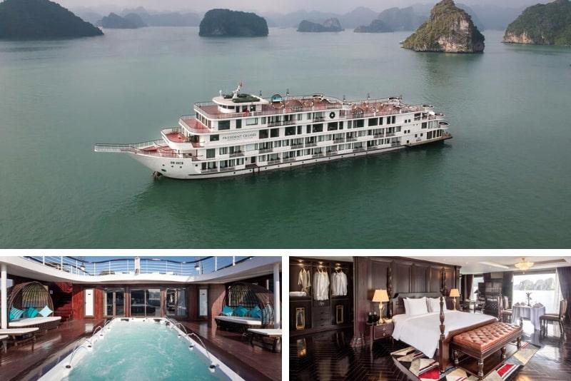 President Cruises # 19 Halong Bay cruceros de lujo