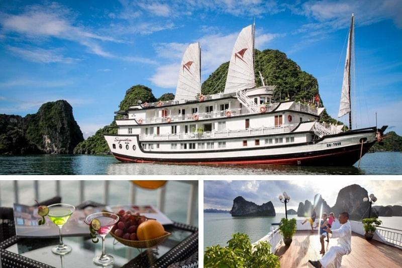 Signature Halong Cruise # 4 Cruceros de lujo por la bahía de Halong