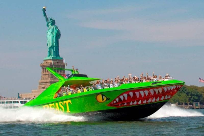 The beast speedboat ride