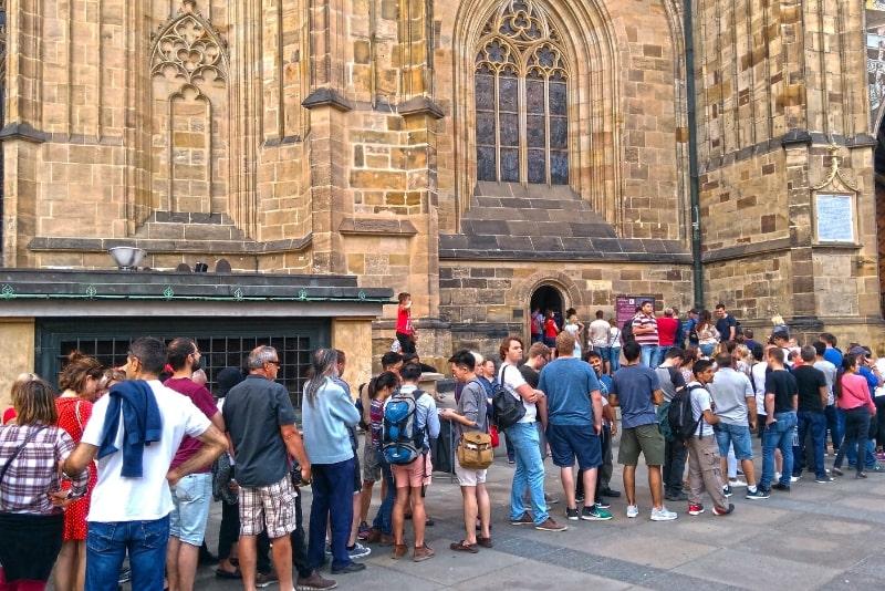 Castello di Praga: fila all'entrata