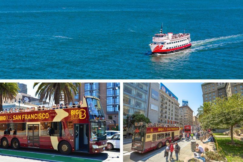 Alcatraz y Big Bus Premium 1 día Hop-On Hop-Off Hop-Off