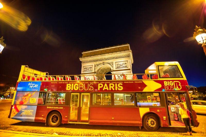 Big Bus Paris: recorrido panorámico en autobús nocturno con audioguía