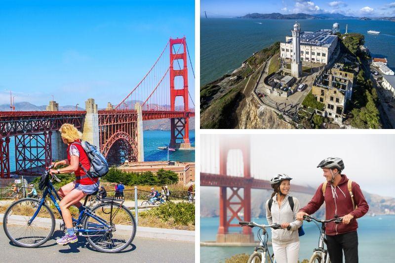 Ciclo The Golden Gate Bridge y Alcatraz Ticket